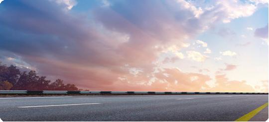 foto do céu com uma estrada
